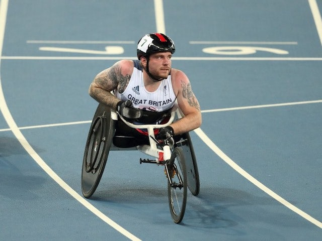 Mickey Bushell in action during the men's T53 100m final at the Paralympic Games in Rio de Janeiro on September 9, 2016