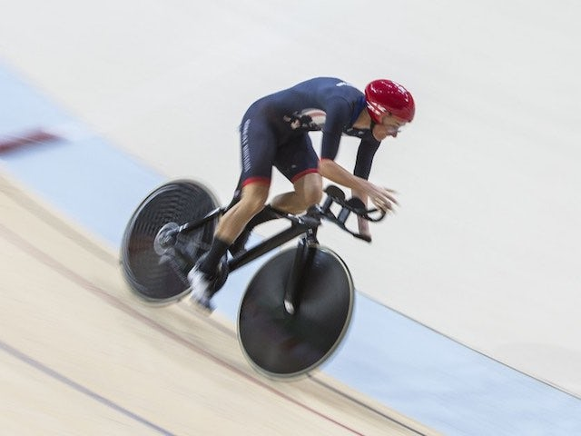 Sarah Storey in action during the women's C4-5 500m time trial at the Paralympic Games in Rio de Janeiro on September 10, 2016