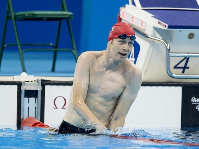 Sascha Kindred in action during the men's 200m individual medley SM6 at the Paralympic Games in Rio de Janeiro on September 12, 2016