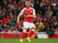 Shkodran Mustafi in action for Arsenal on September 10, 2016