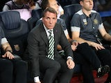 Celtic boss Brendan Rodgers on the bench during his side's 7-0 Champions League loss to Barcelona at the Camp Nou on September 13, 2016