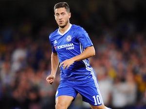 Eden Hazard in action for Chelsea on August 23, 2016