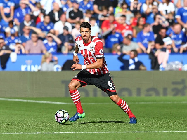 Southampton captain Jose Fonte in action during his side's Premier League clash with Leicester at the King Power Stadium on October 2, 2016