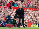 Manchester United manager Jose Mourinho yells instructions during his side's Premier League match with Stoke City at Old Trafford on October 2, 2016