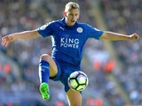 Leicester City midfielder Marc Albrighton in action during his side's Premier League clash with Southampton at the King Power Stadium on October 2, 2016