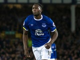 Everton striker Romelu Lukaku celebrates after scoring the opening goal in his side's 1-1 draw with Crystal Palace at Goodison Park on September 30, 2016