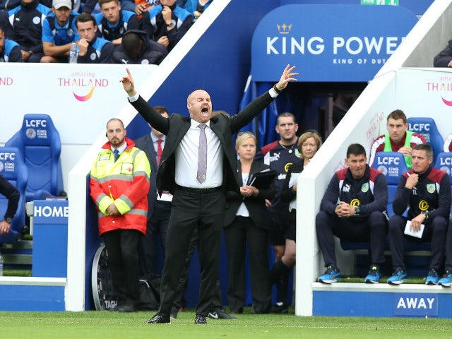Burnley manager Sean Dyche during the Premier League match between Leicester City and Burnley at the King Power Stadium on September 17, 2016