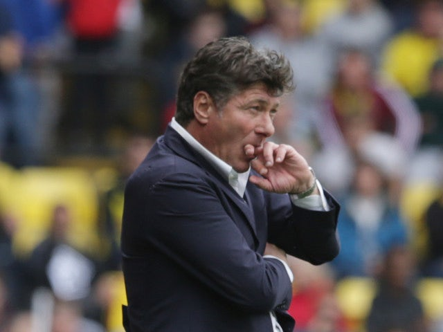 Watford manager Walter Mazzarri during the Premier League match between Watford and Chelsea at Vicarage Road on August 20, 2016