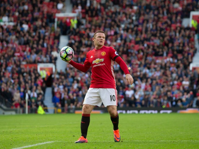 Manchester United captain Wayne Rooney in action during his side's Premier League match against Stoke City at Old Trafford on October 2, 2016
