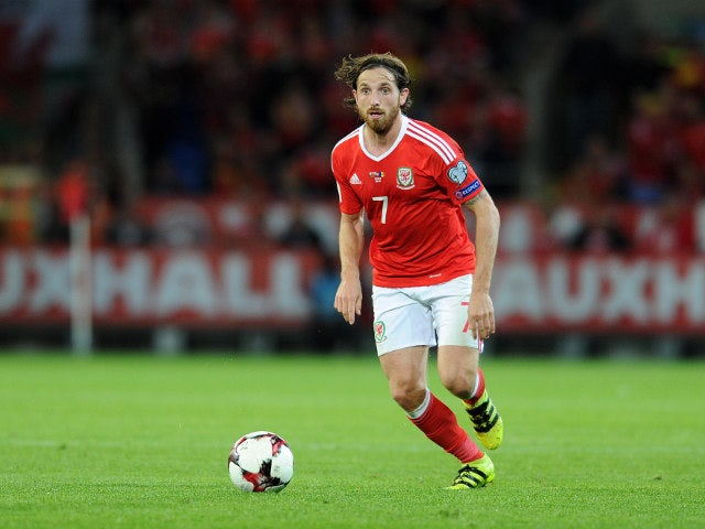 Wales midfielder Joe Allen in action during his side's World Cup qualifier against Moldova on September 5, 2016