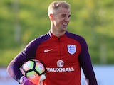Joe Hart in action during England training on October 4, 2016
