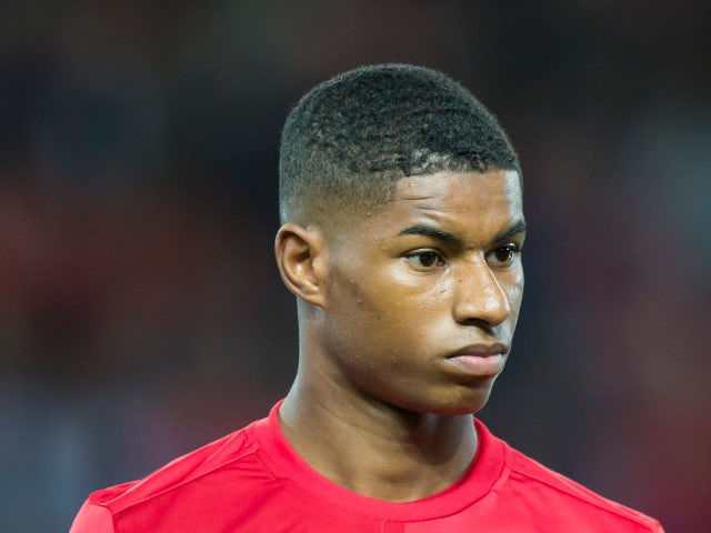Manchester United striker Marcus Rashford ahead of his side's during their Europa League clash with Zorya Luhansk on September 29, 2016