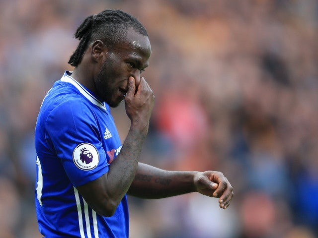 Chelsea winger Victor Moses in action during his side's Premier League clash with Hull City at the KCOM Stadium on October 1, 2016