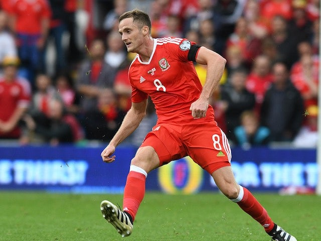 Andy King in action during the World Cup qualifier between Wales and Georgia on October 9, 2016