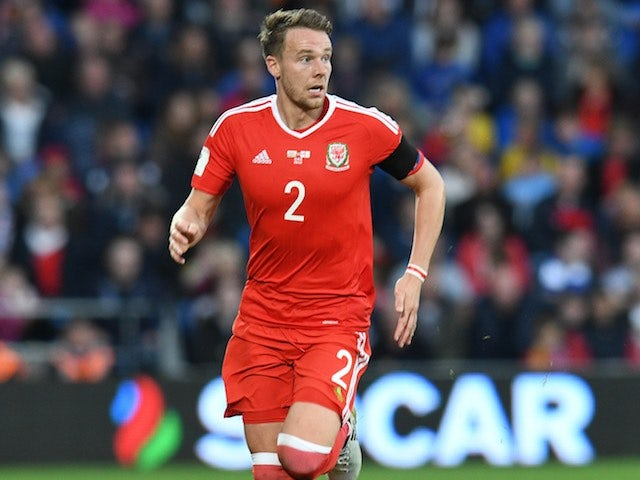 Chris Gunter in action during the World Cup qualifier between Wales and Georgia on October 9, 2016