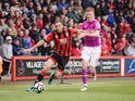 Bournemouth midfielder Dan Gosling in action during his side's 6-1 victory over Hull City at the Vitality Stadium on October 15, 2016