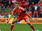 Dave Edwards in action during the World Cup qualifier between Wales and Georgia on October 9, 2016