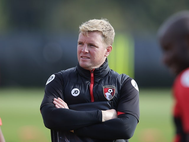 Bournemouth manager Eddie Howe during training on October 12, 2016