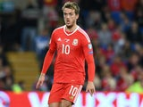 Emyr Huws in action during the World Cup qualifier between Wales and Georgia on October 9, 2016
