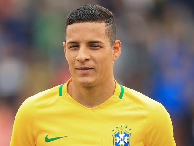 Guilherme Arana of Brazil during a International Friendly between England U20 and Brazil U20 at the Aggborough Stadium. September 4, 2016