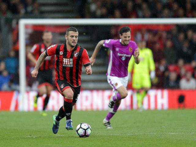 Bournemouth midfielder Jack Wilshere in action during his side's 6-1 victory over Hull City at the Vitality Stadium on October 15, 2016