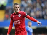 Leicester City striker Jamie Vardy during his side's Premier League clash with Chelsea at Stamford Bridge on October 15, 2016