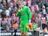 Sunderland goalkeeper Jordan Pickford in action during his side's Premier League clash with Southampton at St Mary's on August 27, 2016