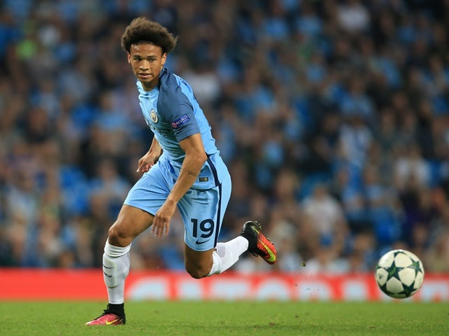 Leroy Sane in the Champions League match between Manchester City and Borussia Monchengladbach at the Etihad Stadium on September 14, 2016