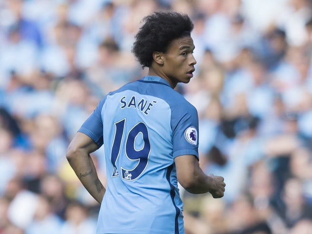 Manchester City's Leroy Sane runs for the ball in the match against Bournemouth on September 17, 2016