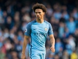 Manchester City winger Leroy Sane in action during his side's Premier League match against Everton at the Etihad Stadium on October 15, 2016