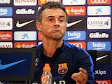 Luis Enrique at the press conference after Barcelona training on October 14, 2016