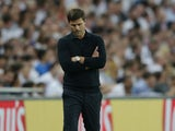 Tottenham Hotspur manager Mauricio Pochettino paces the touchline during his side's Champions League match against AS Monaco at Wembley on September 14, 2016