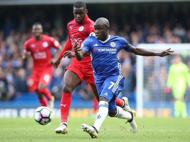 Chelsea midfielder N'Golo Kante in action against former club Leicester City during their Premier League clash at Stamford Bridge on October 15, 2016