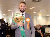 World cruiserweight champion Tony Bellew with his belt on September 12, 2016
