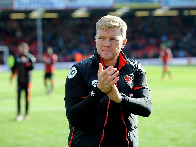 Bournemouth manager Eddie Howe before his side's Premier League clash with Tottenham Hotspur at the Vitality Stadium on October 22, 2016