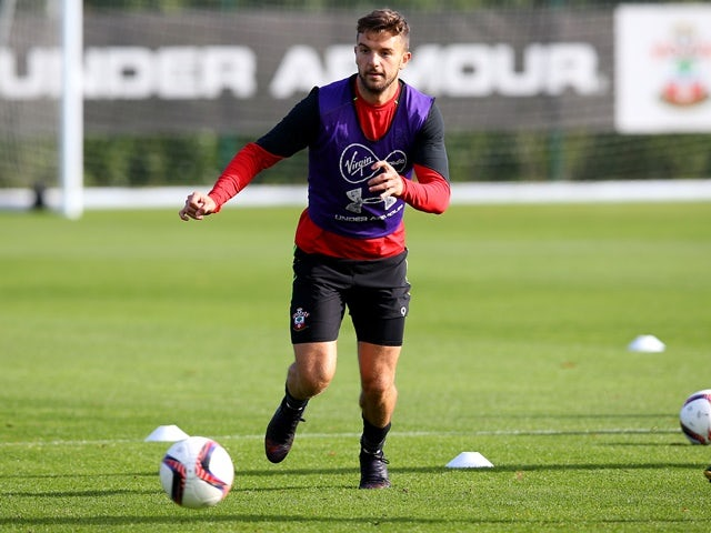 Jay Rodriguez of Southampton during training ahead of the Saints' trip to Inter Milan on October 18, 2016
