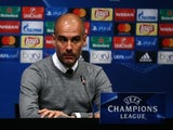 Pep Guardiola at the press conference before the Champions League match between Barcelona and Manchester City on October 18, 2016