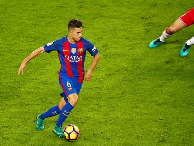 Denis Suarez in action for Barcelona during their La Liga clash with Granada at the Camp Nou on October 29, 2016