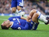 Eden Hazard rubs his penis during the Premier League game between Chelsea and Manchester United on October 23, 2016