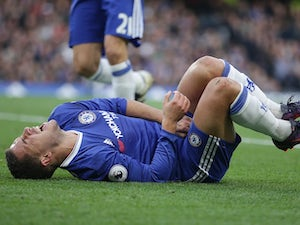 Hazard sidelined for two weeks with calf injury