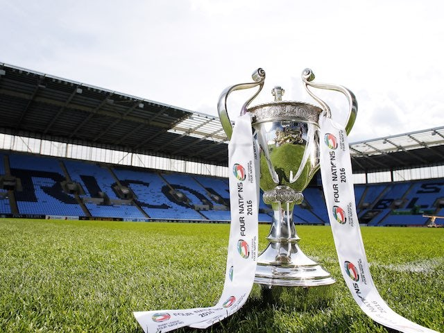 The Four Nations trophy at the Ricoh Arena on October 22, 2016
