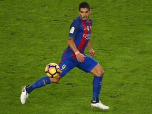 Luis Suarez in action for Barcelona during their La Liga clash with Granada at the Camp Nou on October 29, 2016