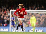 "Marouane Fellaini ""in action"" during the Premier League game between Chelsea and Manchester United on October 23, 2016"