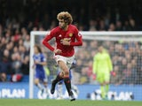 """Marouane Fellaini """"in action"""" during the Premier League game between Chelsea and Manchester United on October 23, 2016"""
