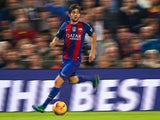 Sergi Roberto in action for Barcelona during their La Liga clash with Granada at the Camp Nou on October 29, 2016