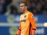West Ham United goalkeeper Adrian in action during his side's Premier League clash with Everton at Goodison Park on October 30, 2016