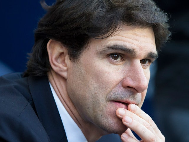 Middlesbrough manager Aitor Karanka looks on prior to his side's Premier League clash with Manchester City at the Etihad Stadium on November 5, 2016