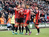 Bournemouth players celebrate following Dan Gosling's opening goal in their Premier League clash with Sunderland at the Vitality Stadium on November 5, 2016