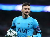 Tottenham Hotspur goalkeeper Hugo Lloris in action during his side's Champions League Group E clash with Bayer Leverkusen at Wembley Stadium on November 2, 2016