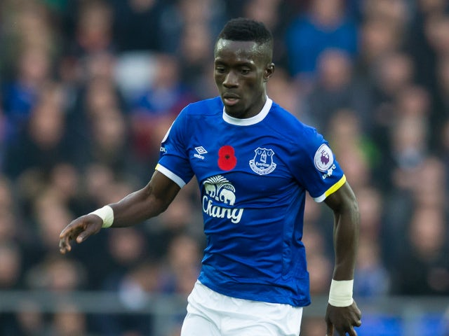 Everton midfielder Idrissa Gueye in action during his side's Premier League clash with West Ham United at Goodison Park on October 30, 2016